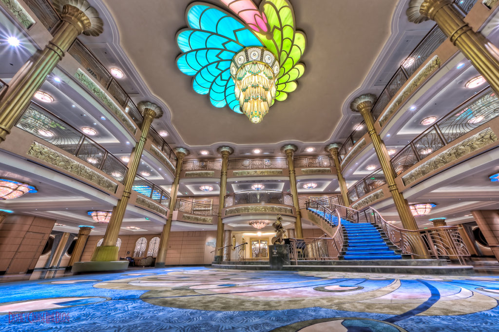 Disney Fantasy - Lobby Atrium from Deck 3