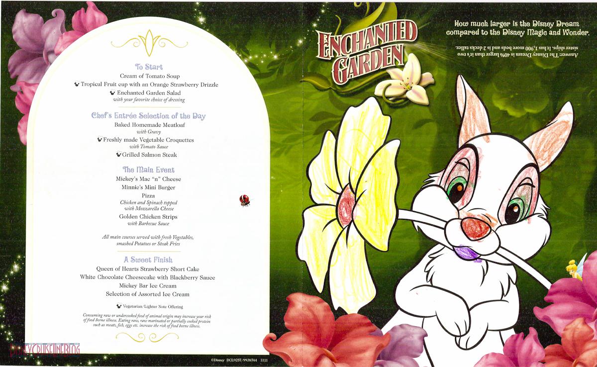 Enchanted Garden Dinner Review The Disney Cruise Line Blog