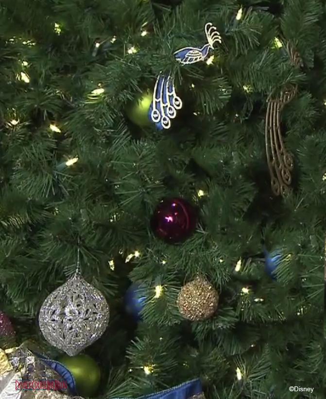 Disney Fantasy Peacock Inspired Christmas Tree Ornaments
