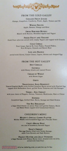 Royal Court & Royal Palace - Breakfast Menu