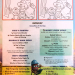 Kids Menu Monday Monsters Incorporated January 2014 Magic