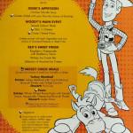 Kids Menu Friday Toy Story January 2014 Magic
