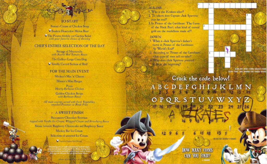 Pirate Night - Children's Menu