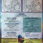 Fantasy Kids Dinner Menu Monday Monsters Inc March 2019