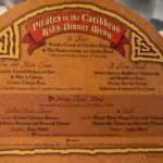 Fantasy Kids Dinner Pirates Menu March 2019