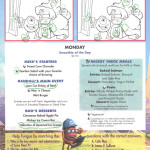 Mickey Check Childrens Menus Magic February 2015 Monsters Inc Monday