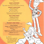 Mickey Check Childrens Menus Magic February 2015 Toy Story Friday