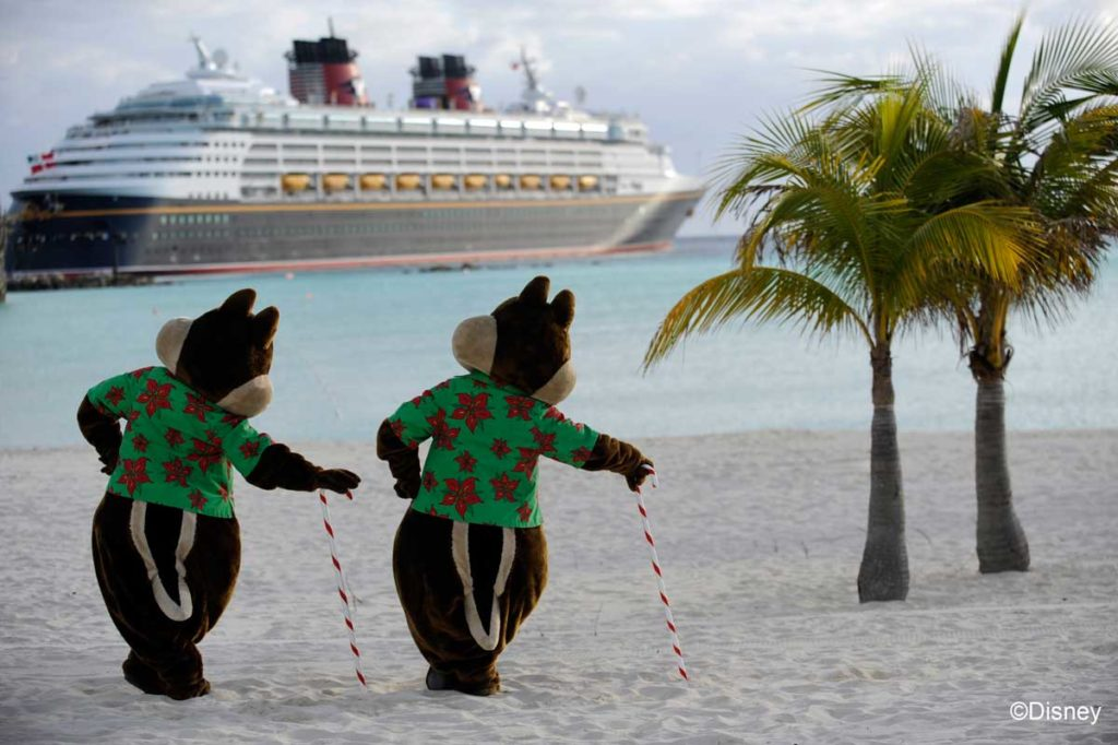 Winter Holidays Chip Dale at Castaway Cay