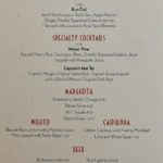 Disney Cruise Line - Drink Bar Menu I