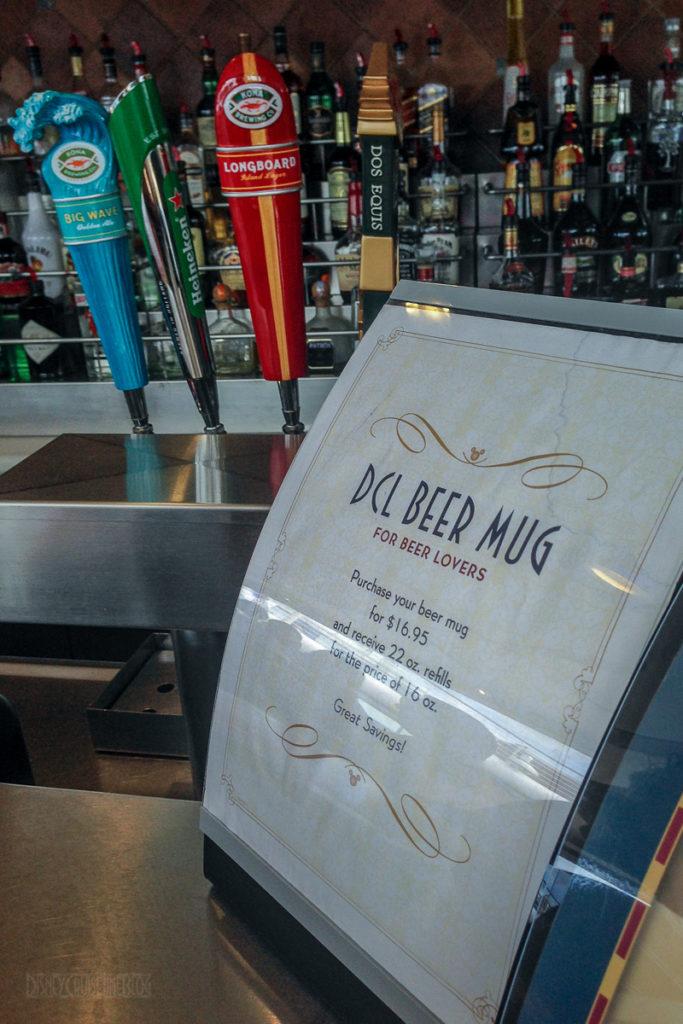 Disney Cruise Line Beer Mug Pricing