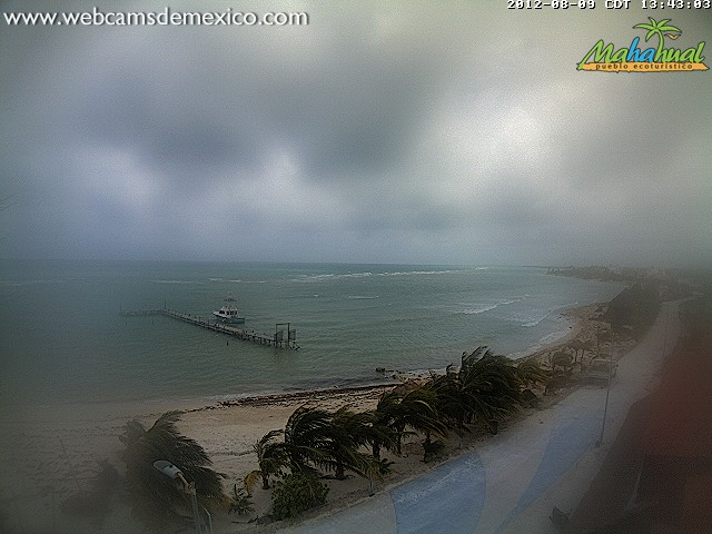 Costa Maya Mahahual Webcam 20120808-1343 After Hurricane Ernesto