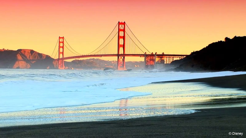 Pixar Cruise San Francisco Golden Gate Bridge