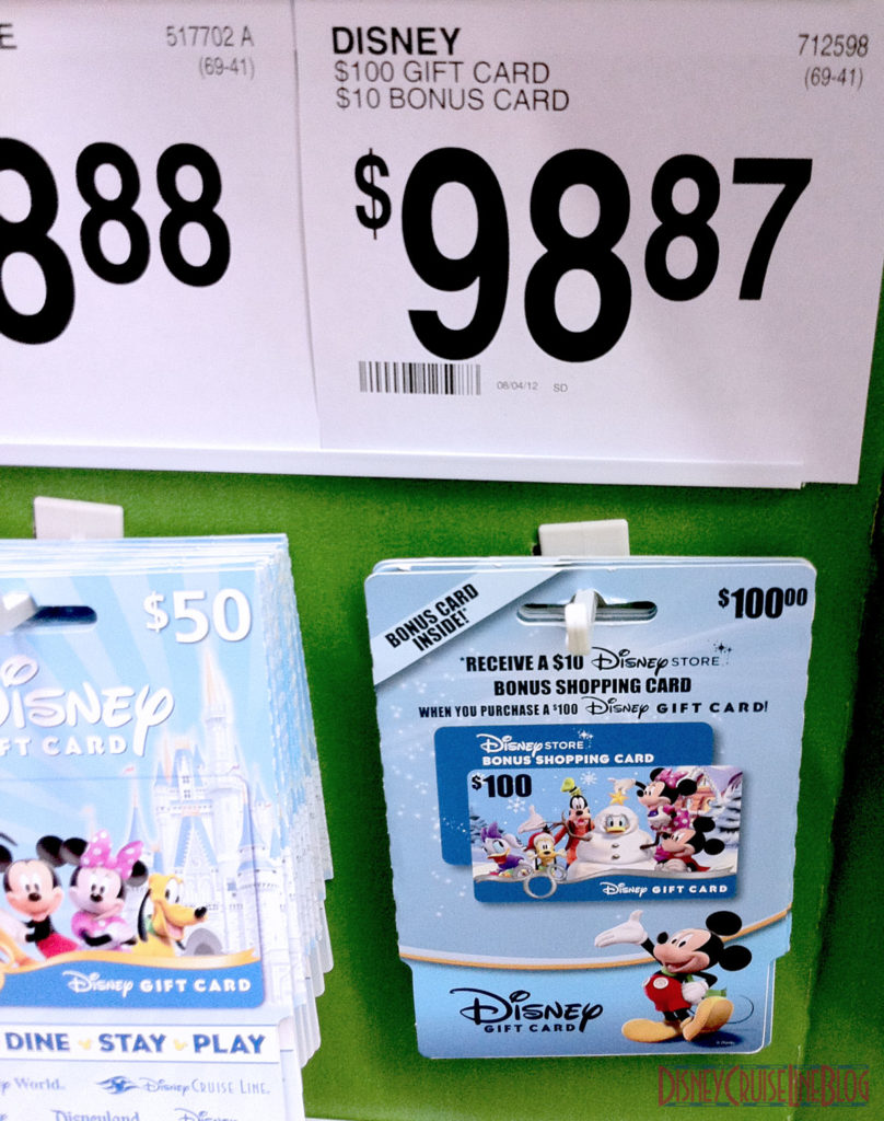 $100 Sam's Club Disney Gift Cards Plus Bonus $10