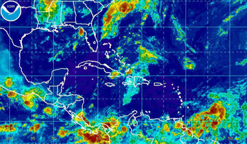 Tropical Depression 5 Satellite Rainbow IR