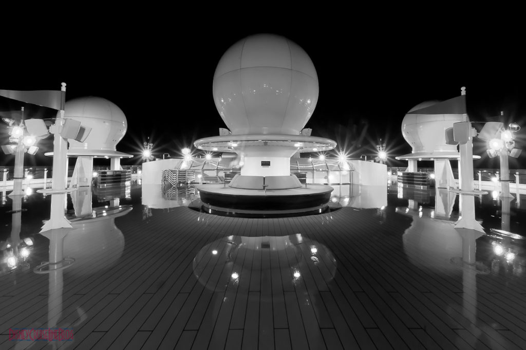 Disney Dream Deck 13 Forward At Night B&W