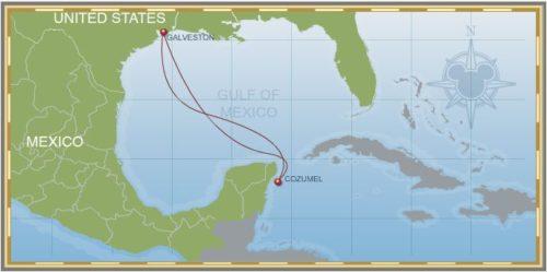 4-Night Western Caribbean Galveston Itinerary Map