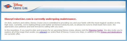 DCL Maintenance Message