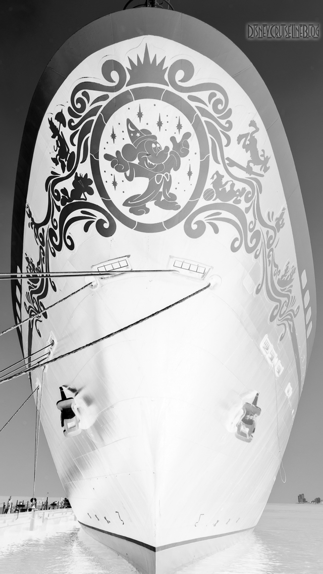Disney Magic Bow B&W II iPhone 5 Wallpaper