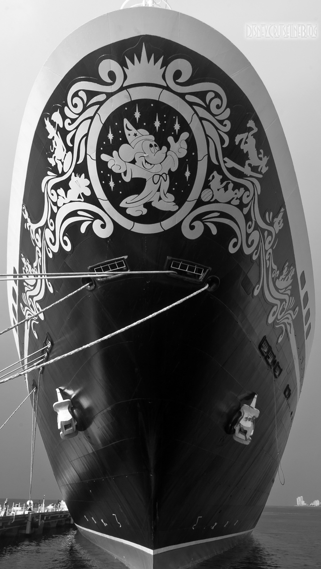 Disney Magic Bow B&W iPhone 5 Wallpaper