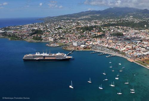 Martinique Port Aerial View