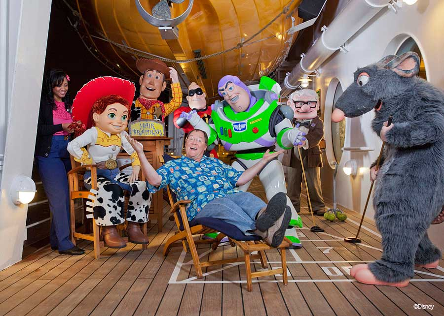 Pixar Cruise Lasseter with Characters