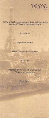Remy Brunch Vegetarian Dream 2014