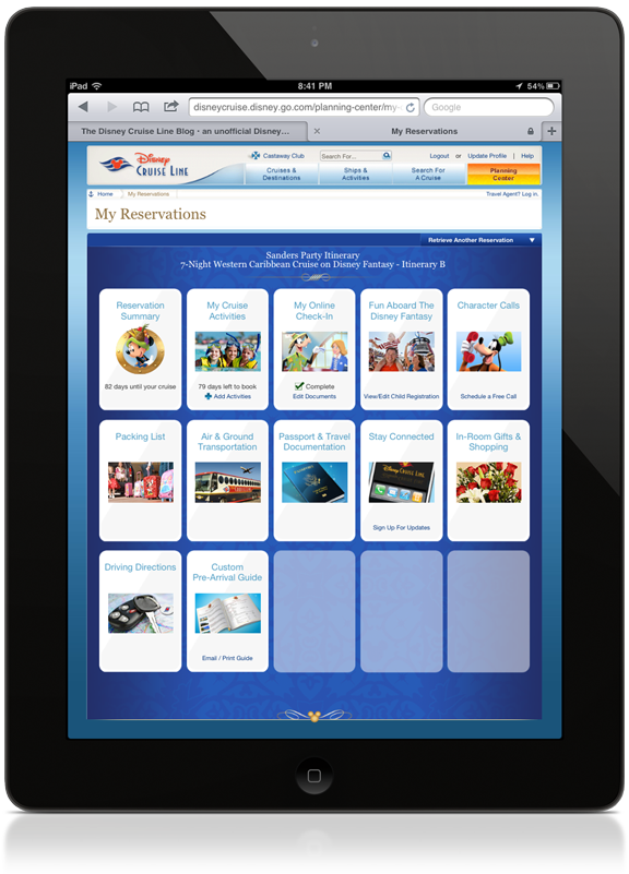 iPad Online Check-in