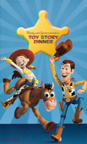 Toy Story Dinner (3D) Menu - Front (Wonder)