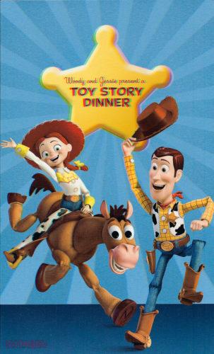 Toy Story Dinner (3D) Menu - Front (Wonder)