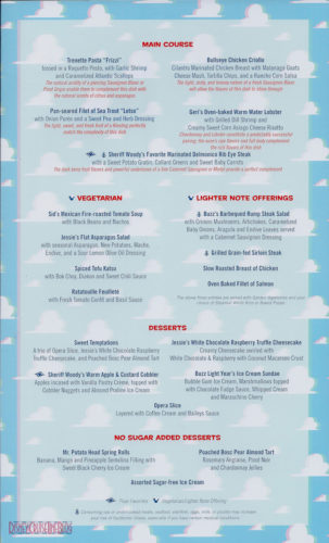 Toy Story Dinner (3D) Menu - Main Courses(Wonder)
