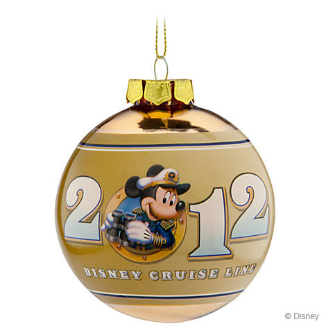 Disney Cruise Line 2012 Glass Ornament