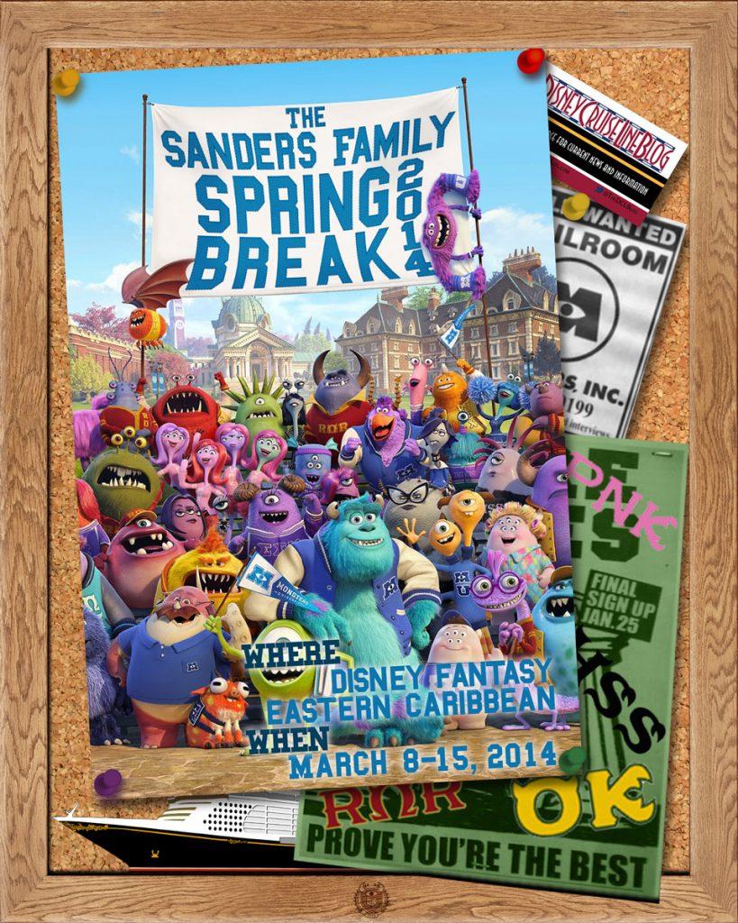 Door Magnet Monsters University March 2014
