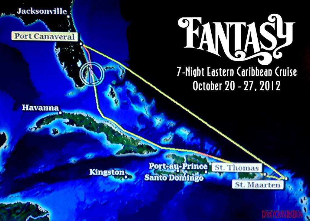 Fantasy Route Map Hurricane Sandy October 2012