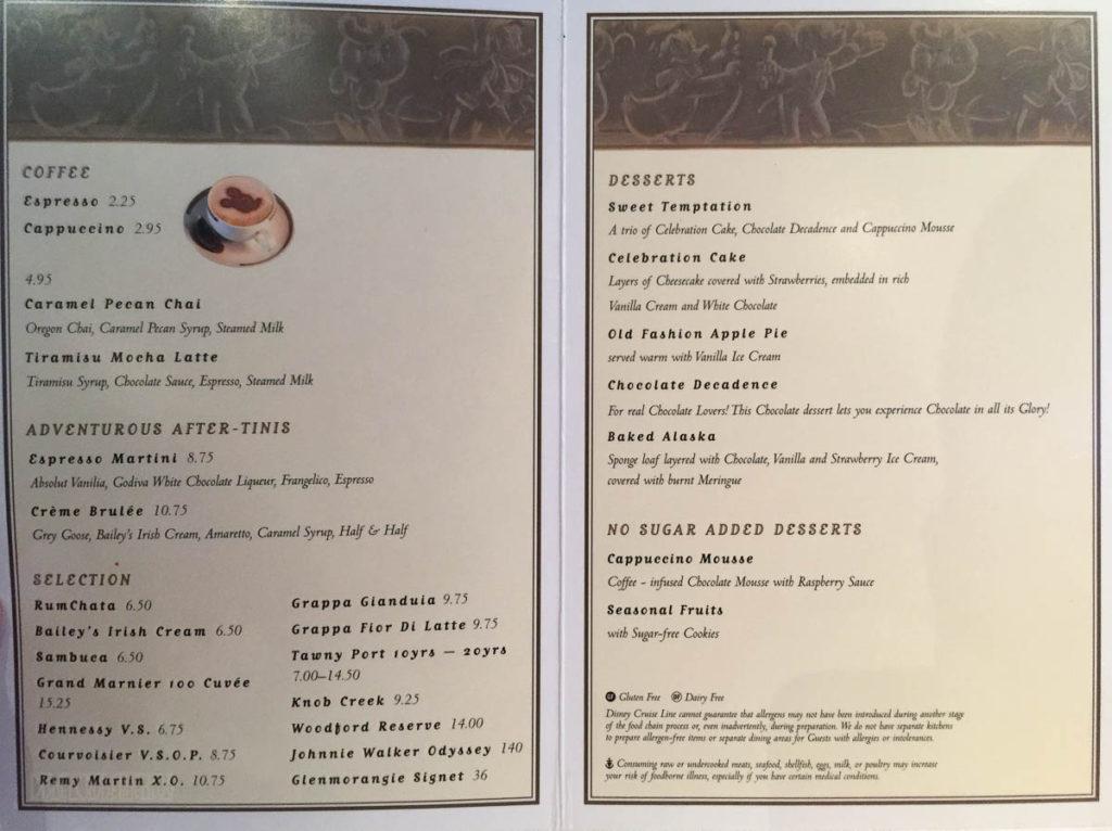 Sea Ya Real Soon Dessert Menu Fantasy June 2016