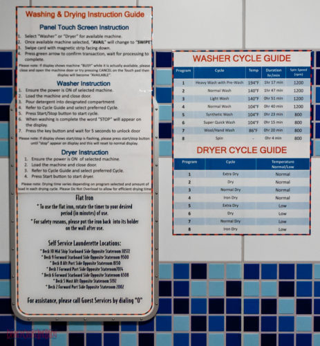 Disney Fantasy Self Service Laundry - General Information & Guid