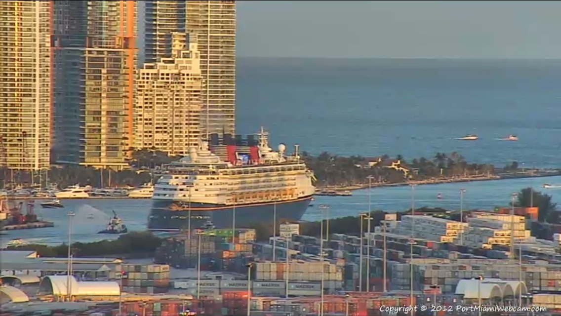 Disney Wonder Leaves Port of Miami