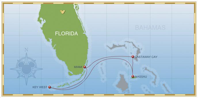 4-Night Bahamian Cruise on Disney Wonder - Itinerary B