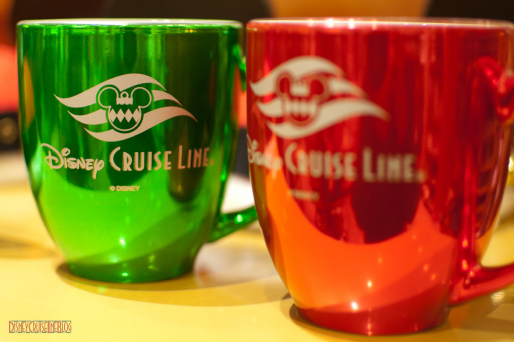 DCL 2012 Holiday Merchandise - Coffee Mugs (Green/Red)