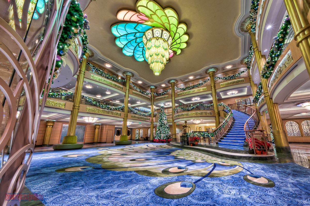 Disney Fantasy Atrium Lobby Christmas Decorations