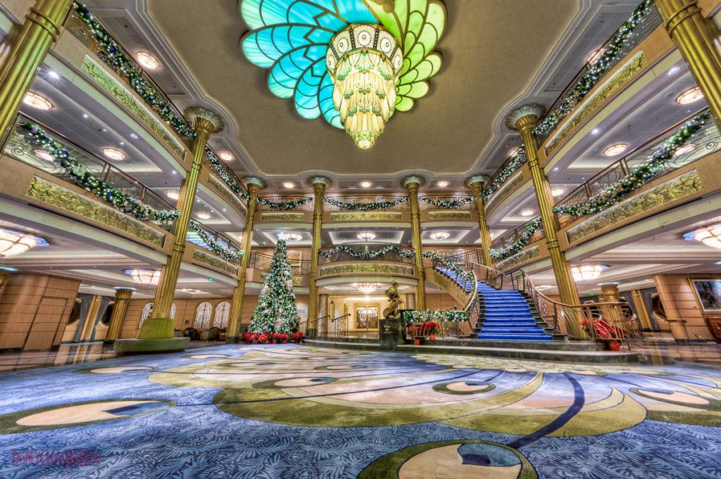 Disney Fantasy Atrium Lobby Christmas Decorations