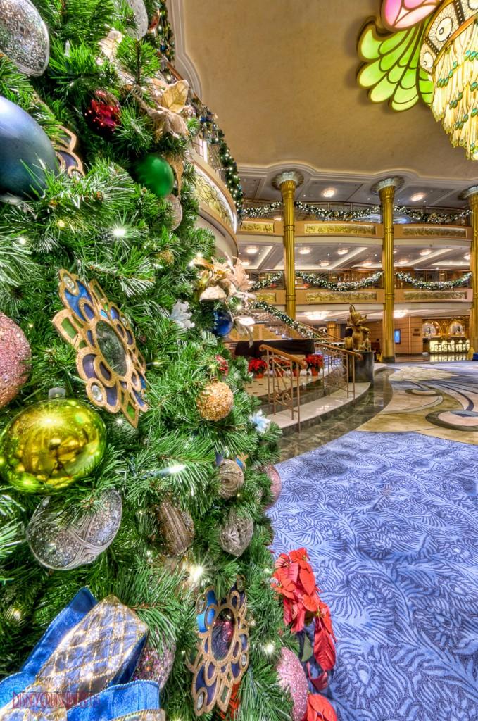 Disney Fantasy Atrium Lobby Christmas Tree Details