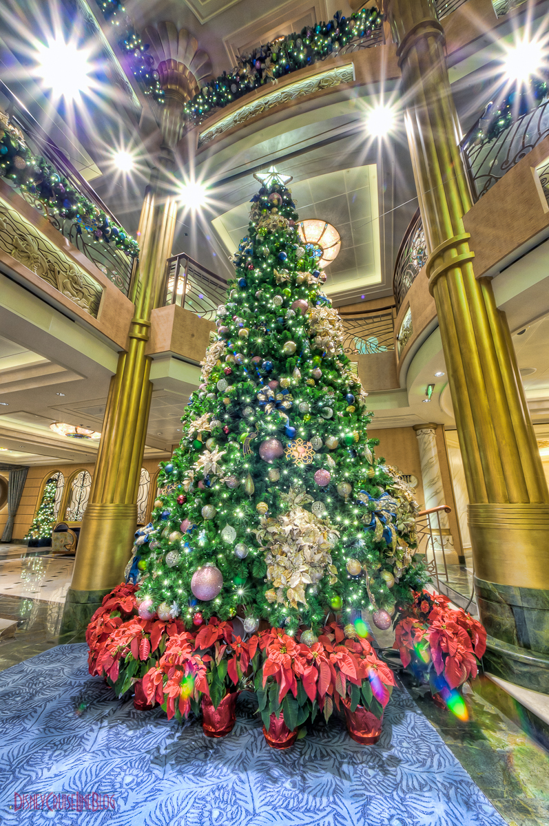 Disney Fantasy Atrium Lobby Christmas Tree