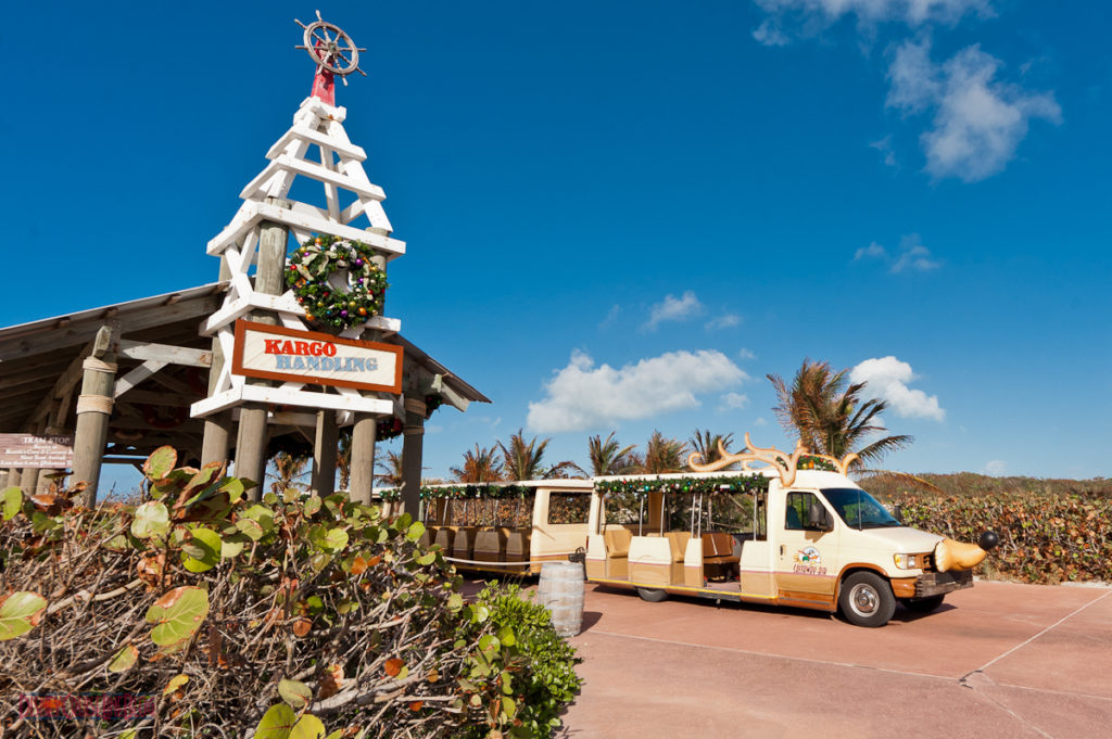 Castaway Cay Christmas - Kargo Handler Reindeer Tram