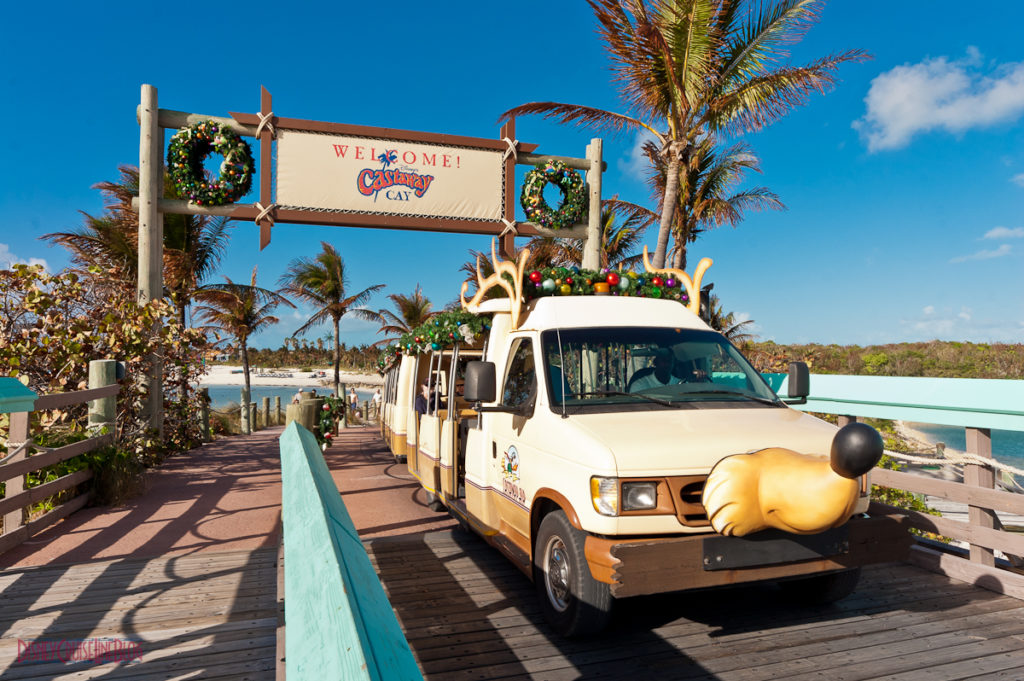 Castaway Cay Christmas - Welcome to Castaway Cay Tram