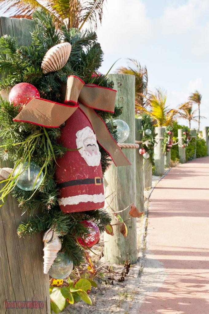 Castaway Cay Christmas - Santa Wreath