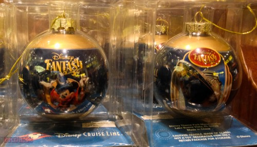 DCL 2012 Holiday Merchandise - Disney Fantasy Glass Ornament