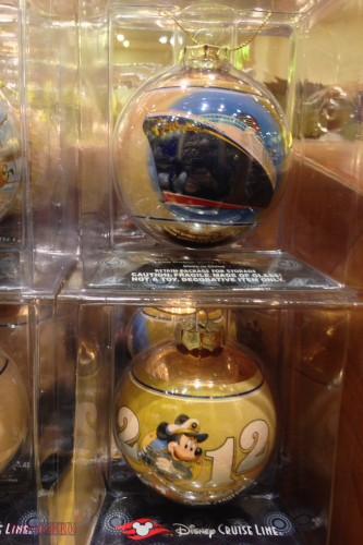 DCL 2012 Holiday Merchandise - Disney Cruise Year Glass Ornament