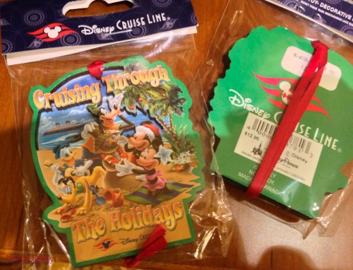 DCL 2012 Holiday Merchandise - Cruising Through the Holidays Orn