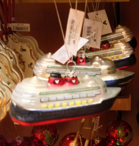 DCL 2012 Holiday Merchandise - Glass Ship Ornament