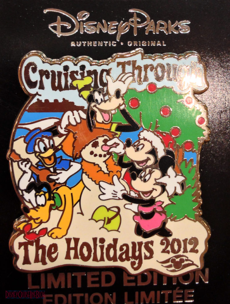 DCL 2012 Holiday Merchandise - Cruising Through the Hoidays Pin